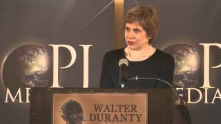 Claudia Rosett at the First Annual Walter Duranty Awards