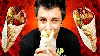Dégustation d'un kebab frites sauce mayo dans une galette ! Clique ...