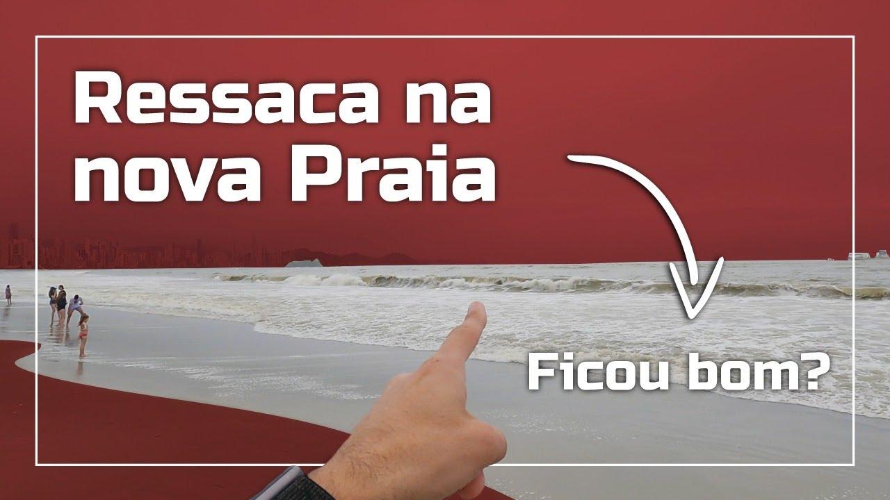 Ressaca Brava em Balneário Camboriú - Veja Como Ficou a Praia Alargada com Ressaca