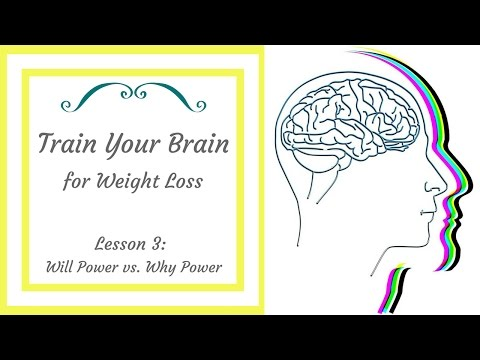 Train Your Brain for Weight Loss: Lesson 3: Will Power vs Why Power