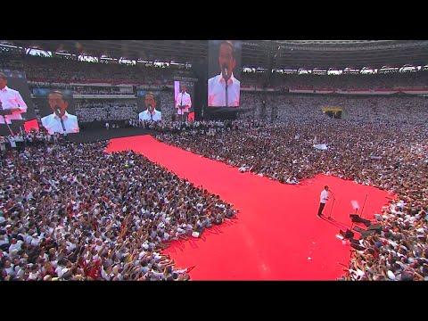 Gambar Udara Kampanye Jokowi - Ma'ruf di GBK