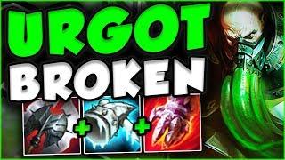NEW REWORKED URGOT IS 100% BROKEN ON LIVE SERVERS! REWORKED URGOT TOP GAMEPLAY! - League of Legends