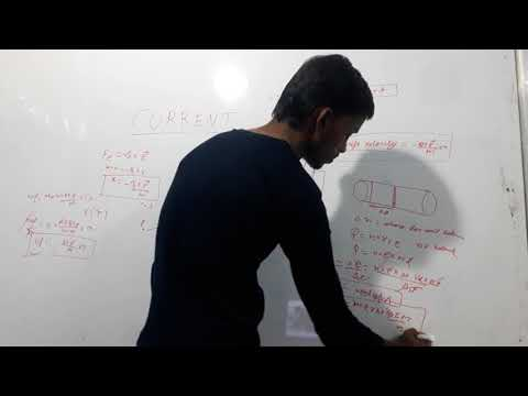 Drift velocity of electron derivation in hindi (current electricity part 2)