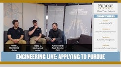 Engineering Live - Applying to Purdue