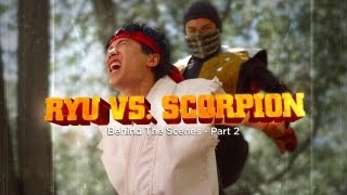 ryu vs scorpion behind the scenes part 2 ultimate fan fights ep 2