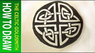How to Draw Celtic Patterns 42 - Circular Triskele from St. Vigeans Pictish Cross 5of5