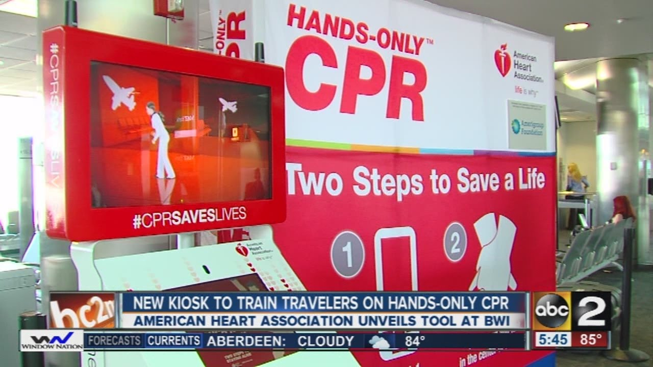Cpr training kiosk at bwi youtube cpr training kiosk at bwi xflitez Image collections