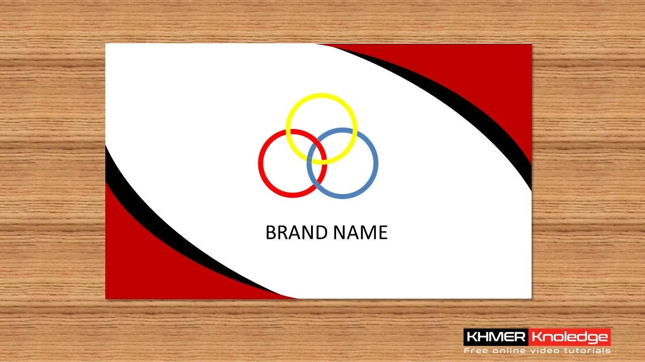 Create Creative Business Card in PowerPoint 2013, 2016 #1 - YouTube