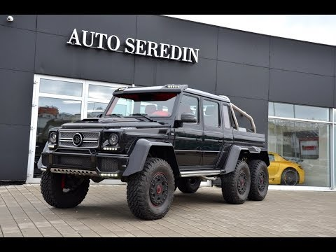 Stage 2 mercedes benz g 63 amg 6x6 brabus 700hp one of one for 2 5 million mercedes benz