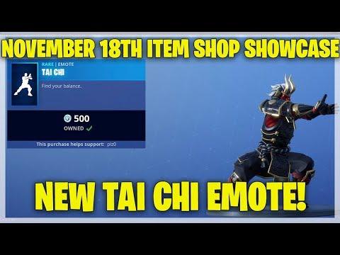Fortnite Item Shop NEW TAI CHI EMOTE! [November 18th, 2018] (Fortnite Battle Royale)