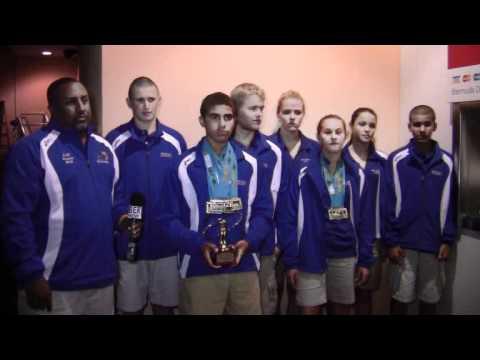 Medal Winning Carifta Swim Team Return Bermuda Apr 17 2012
