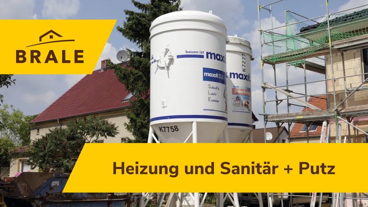 Wie entsteht ein Massivhaus? | Baudoku | So baut die Brale: Teil 5  Rohinstal. Heizung/Sanitär+ Putz
