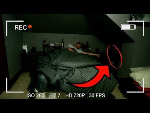 Thumbnail: DO NOT RECORD YOURSELF SLEEPING AT 3AM // PARANORMAL SLEEP CAUGHT ON CAMERA!