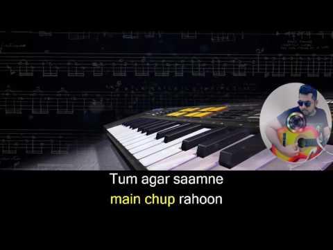 Main Agar Samne karaoke with synced lyrics