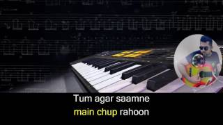 Main Agar Samne karaoke with synced lyrics