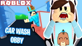ESCAPE THE CAR WASH OBBY! ROBLOX GAMINGWITHPAWESOMETV