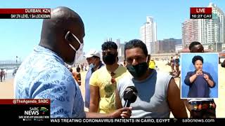 Bathers out and about at Durban's beaches