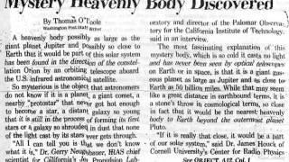 Planet X - Nibiru - Facts (1841-2012) & Newspaper Scans