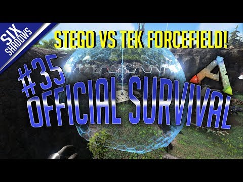 STEGO VS TEK FORCEFIELD! - Official PvP - New Servers | Episode 35 - Ark: Survival Evolved