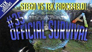 STEGO VS TEK FORCEFIELD! - Official PvP - New Servers | Episode 35 - Ark: Survival Evolved