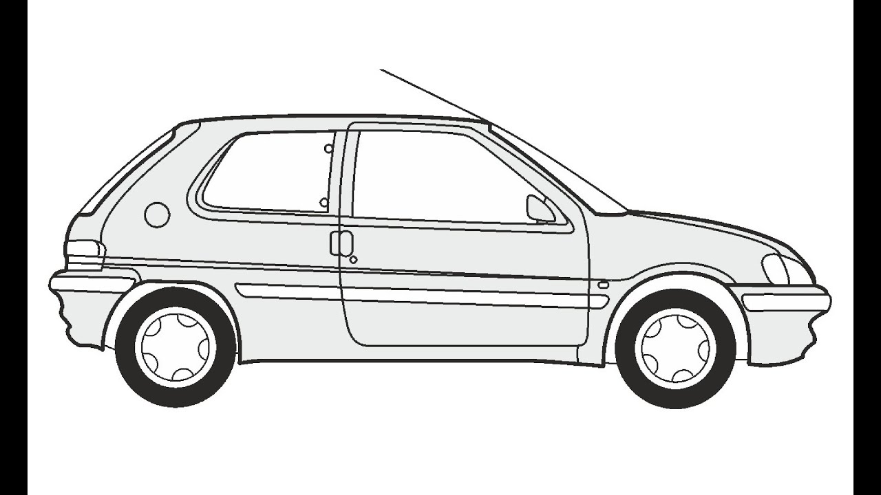 How to Draw a Peugeot 106 / Как нарисовать Peugeot 106