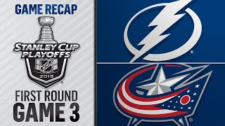 Blue Jackets beat Lightning, go up 3-0 in series
