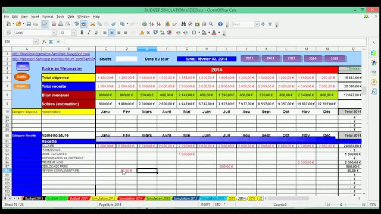 Bien-aimé Tutorial Video gestion du budget familial - YouTube BR38