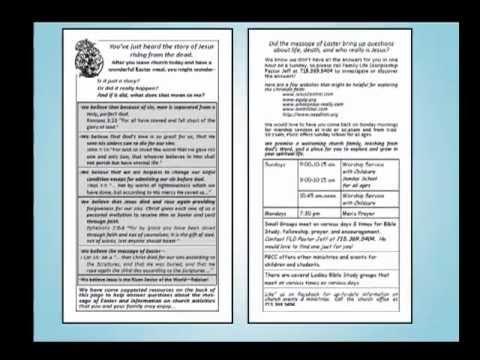 Outreach Church Bulletin Inserts