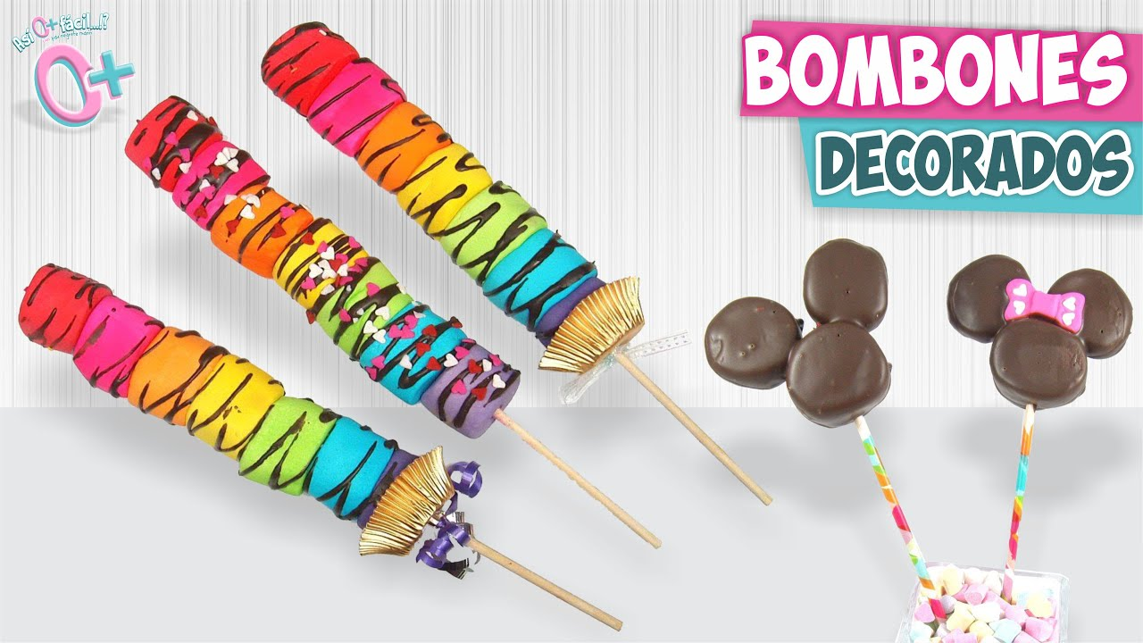 Paletas de bombon decoradas san valent n as o m s for Paletas de cocina decoradas