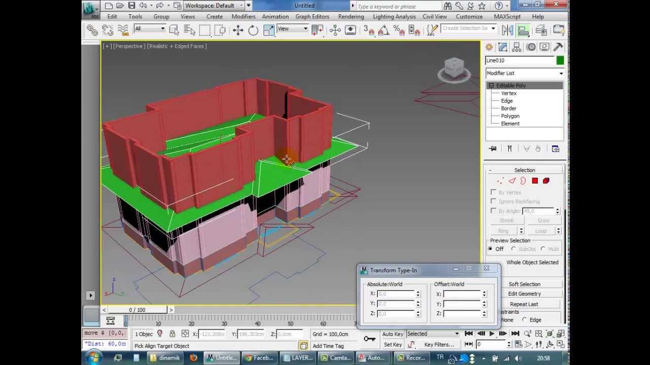 3ds max plan dan bina modelleme - House Modeling - YouTube