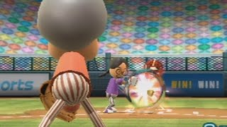 going pro in every wii sports sport raging and funny moments - baseball