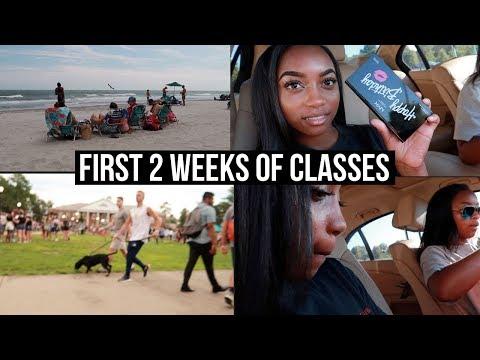 FIRST 2 WEEKS OF COLLEGE | New Hair, Beach Trip, Eclipse, Ulta Run | Chamira & Shantal