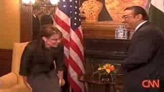 Sarah Palin Meets Horny Pakistan President Zardari