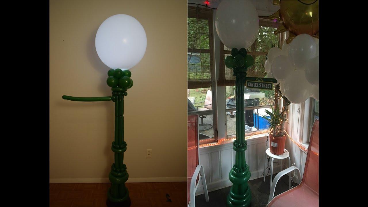 sesame street balloon lamp post balloon decoration. Black Bedroom Furniture Sets. Home Design Ideas