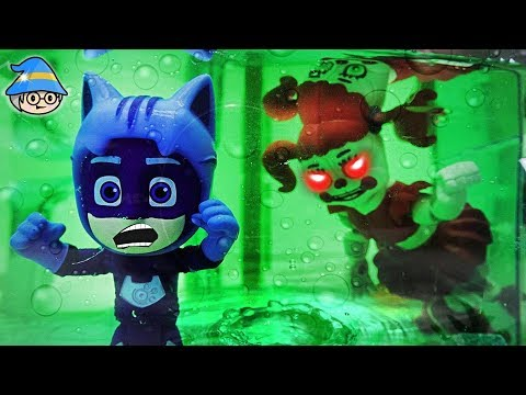 PJ Masks Cat Boy saw the ghost in the water. Explore the Five Nights at Freddy Pizza Shop.