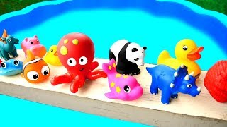 Learn Animals Names For Kid Surprise Animals - Dinosaurs Toys - Fun Video with Wild Animals