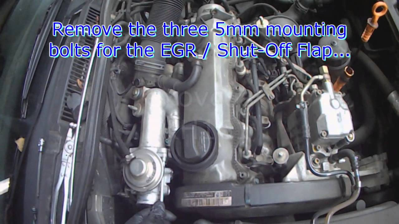 vw  alh tdi egr removal  cleaning youtube