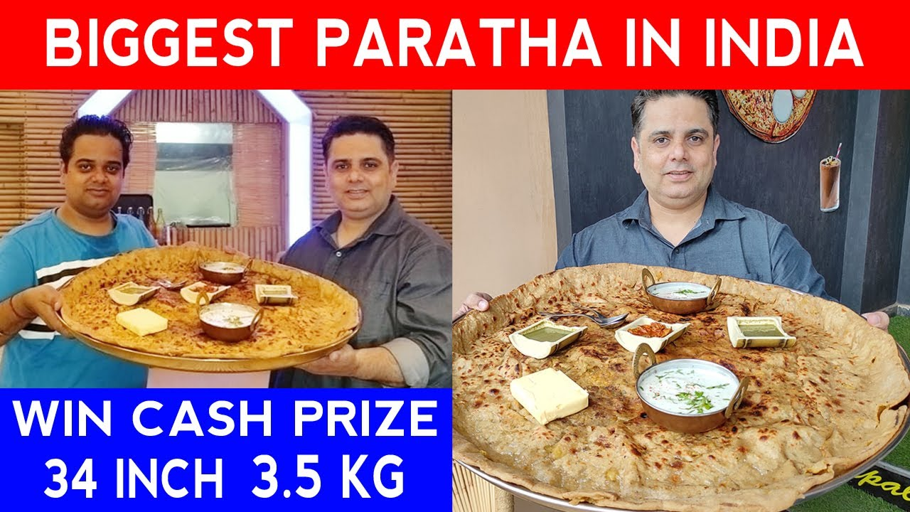 Biggest Paratha in India 💰 Eat and Win CASH PRIZE 💰 Faridabad Food ! Street Food India