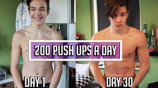 200 push ups a day for 30 days CHALLENGE - Body Transformation Results