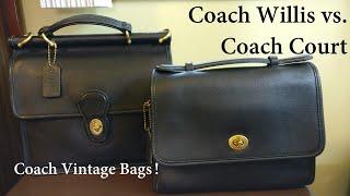 Vintage Coach Willis vs Coach Court (Vintage Pochette Metis or Coach Cassie Alternative)