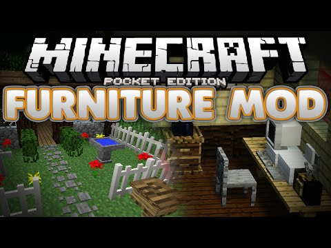 THE FURNITURE MOD!!! (0.12.0+) - Computers, Chairs, Lanterns, & More - Minecraft PE (Pocket Edition)