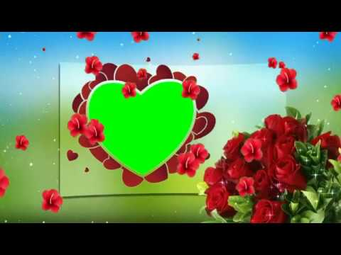 Green Screen Heart shaped Wedding Frame with animated background HD 2018 thumbnail