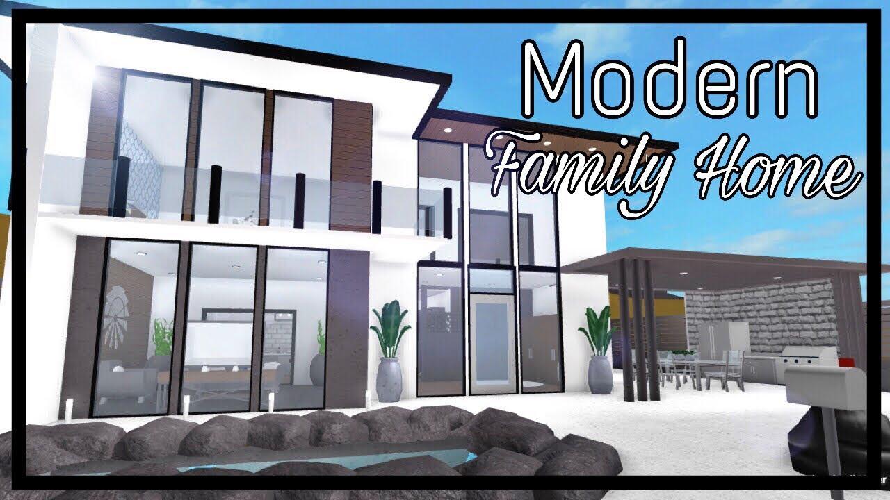 Roblox Welcome To Bloxburg Modern Family Home 70k Youtube