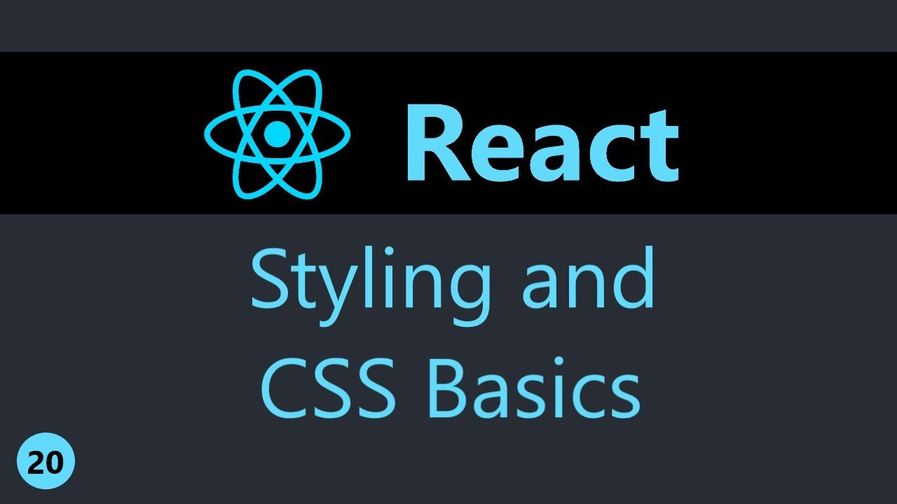 ReactJS Tutorial - 20 - Styling and CSS Basics