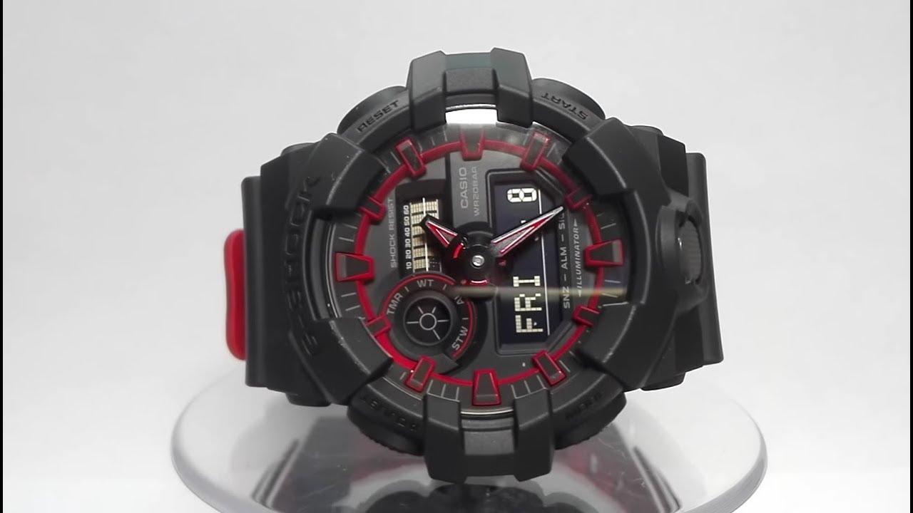 f5d1f5833d9e0b Casio G-Shock GA-700SE-1A4ER watch video 2017 - YouTube