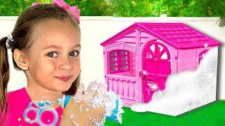 Waschen Sie ein Spielhaus für Kinder - Maya und Mary - Deutsche Kinderlieder