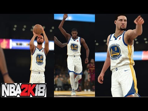 NBA 2K18 Big Game!! Stephen Curry,Kevin Durant & Klay Thompson vs Cavaliers