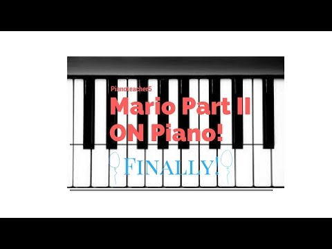 How to play Mario (Part II) on piano   #easy
