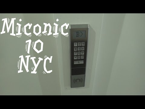 Awesome Schindler Miconic 10 High speed elevators @ 1211 Avenue of the Americas New York City