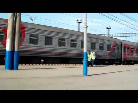 Поезд Самара---Нижневартовск прибывает на станцию